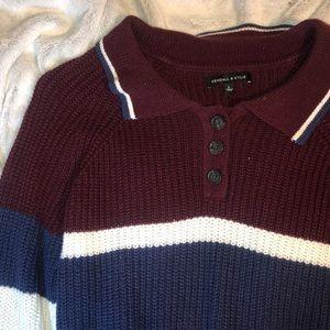 K&K cute cropped sweater